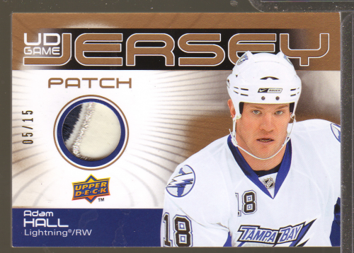 2010-11 Upper Deck Game Jerseys Patches #GJAH Adam Hall