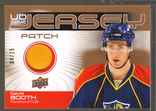 2010-11 Upper Deck Game Jerseys Patches #GJBO David Booth