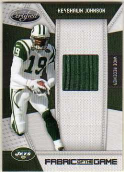 2010 Certified Fabric of the Game #94 Keyshawn Johnson/170