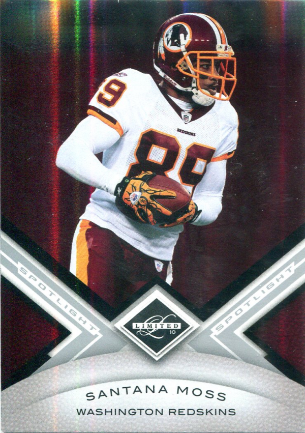 2010 Limited Silver Spotlight #100 Santana Moss