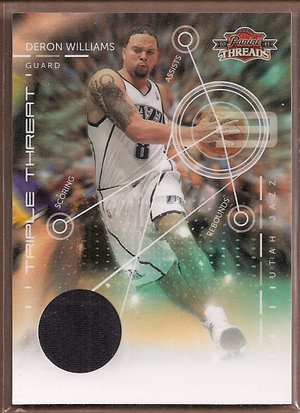 2010-11 Panini Threads Triple Threat Materials #2 Deron Williams
