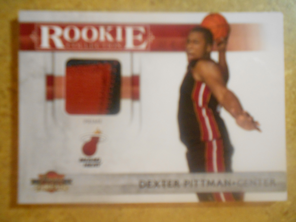 2010-11 Panini Threads Rookie Collection Materials Prime #29 Dexter Pittman