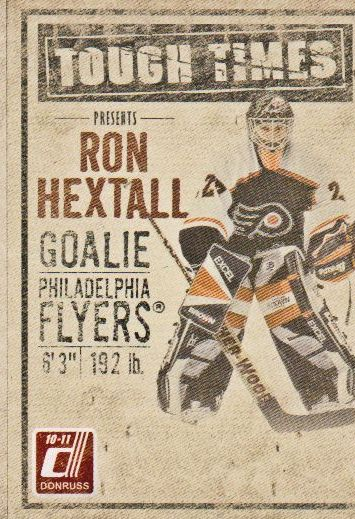 2010-11 Donruss Tough Times #2 Ron Hextall