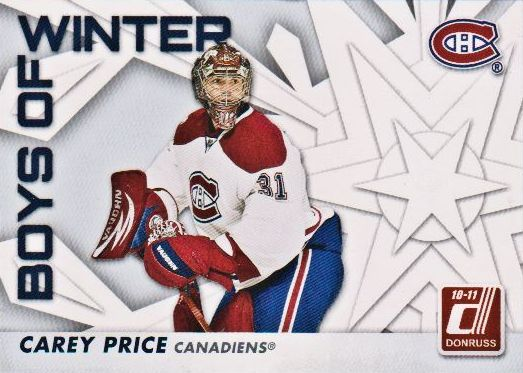 2010-11 Donruss Boys of Winter #63 Carey Price