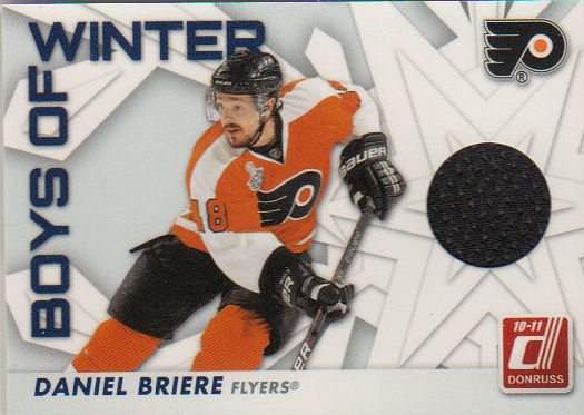 2010-11 Donruss Boys of Winter Threads #76 Daniel Briere