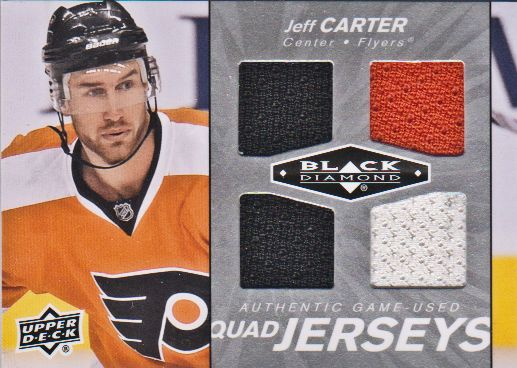 2010-11 Black Diamond Jerseys Quad #QJJC Jeff Carter