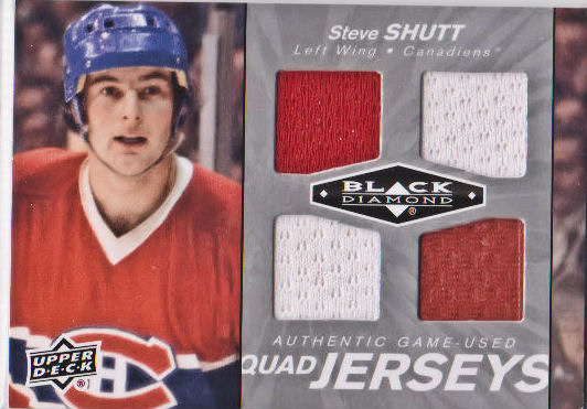 2010-11 Black Diamond Jerseys Quad #QJSV Steve Shutt