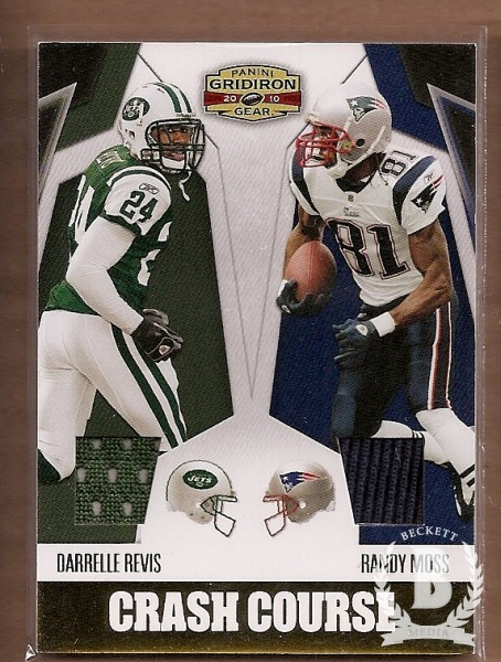 2010 Panini Gridiron Gear Crash Course Jerseys #2 Darrelle Revis/250/Randy Moss