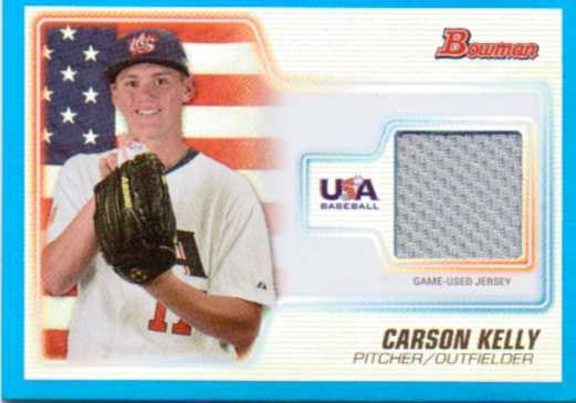 2010 Bowman Draft USA Baseball Jerseys Blue #USAR10 Carson Kelly