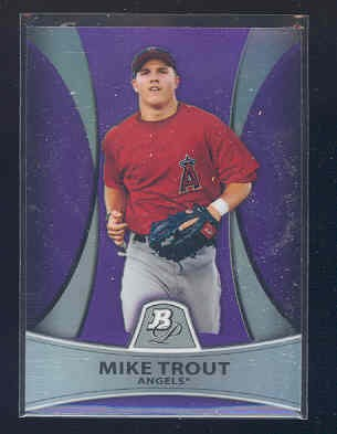 2010 Bowman Platinum Prospects Purple Refractors #PP5 Mike Trout