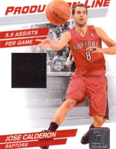 2010-11 Donruss Production Line Materials #53 Jose Calderon/399
