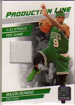 2010-11 Donruss Production Line Materials #76 Rajon Rondo/399
