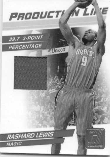 2010-11 Donruss Production Line Materials #95 Rashard Lewis/399