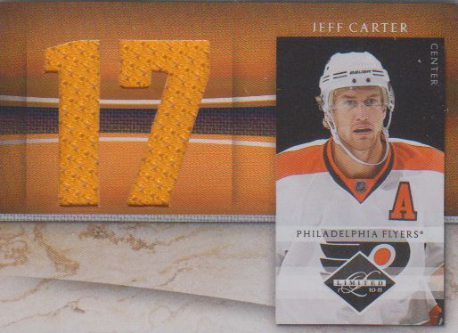 2010-11 Limited Jumbo Materials Jersey Numbers #18 Jeff Carter