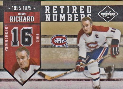 2010-11 Limited Retired Numbers Gold Spotlight #16 Henri Richard