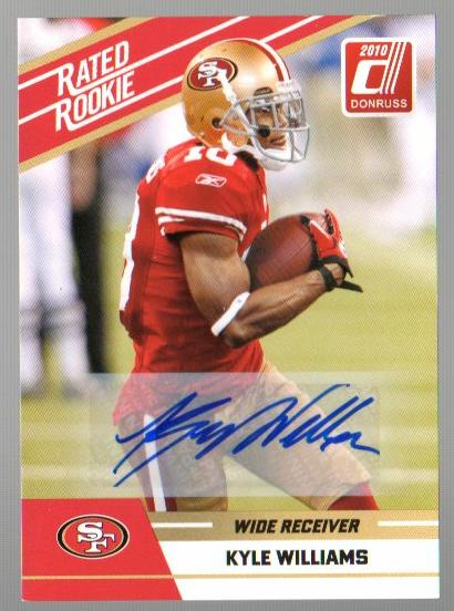 2010 Donruss Rated Rookies Autographs #64 Kyle Williams
