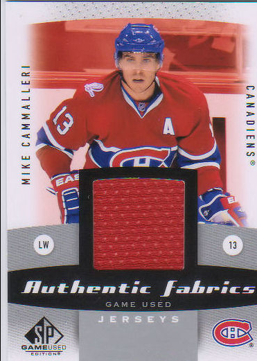 2010-11 SP Game Used Authentic Fabrics #AFMC Mike Cammalleri