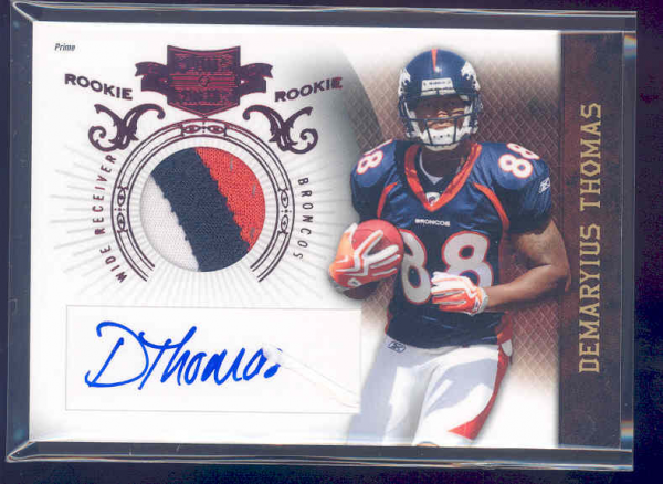 2010 Panini Plates and Patches #209 Demaryius Thomas JSY AU/699 RC