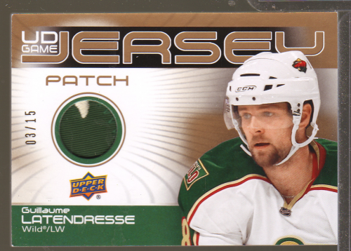 2010-11 Upper Deck Game Jerseys Patches #GJ2LA Guillaume Latendresse
