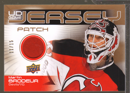2010-11 Upper Deck Game Jerseys Patches #GJ2MB Martin Brodeur