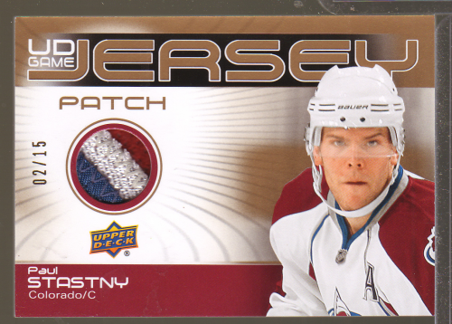 2010-11 Upper Deck Game Jerseys Patches #GJ2ST Paul Stastny