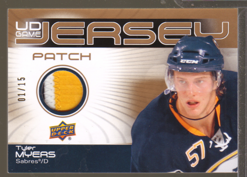 2010-11 Upper Deck Game Jerseys Patches #GJ2TM Tyler Myers