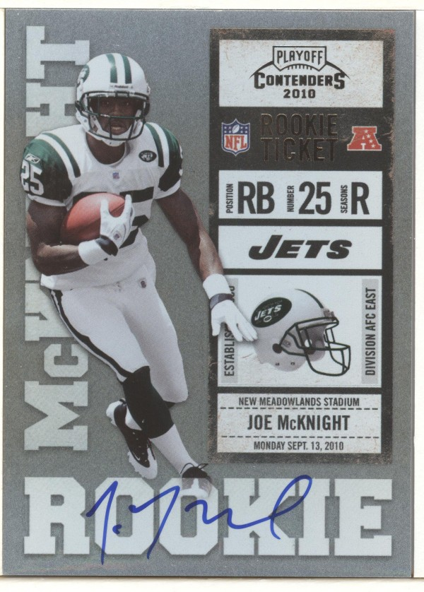 2010 Playoff Contenders #220B Joe McKnight WJ AU/392* RC/(white jersey)