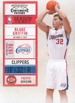 2010-11 Playoff Contenders Patches #5 Blake Griffin