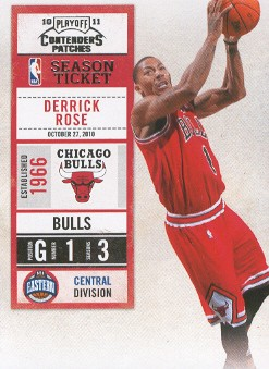2010-11 Playoff Contenders Patches #69 Derrick Rose