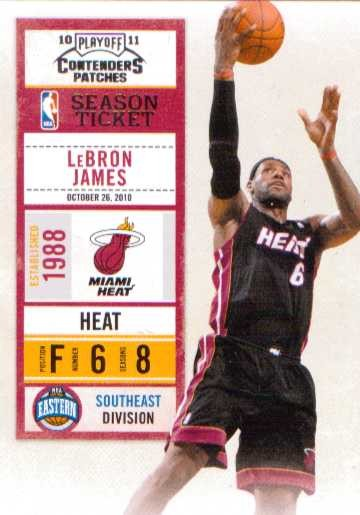 2010-11 Playoff Contenders Patches #93 LeBron James