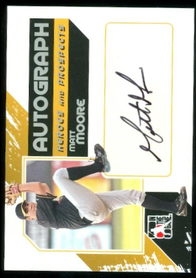 2011 ITG Heroes and Prospects Full Body Autographs Silver #MM Matt Moore