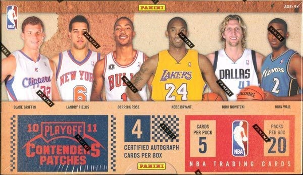 2010-11 Playoff Contenders Patches Basketball Hobby Box