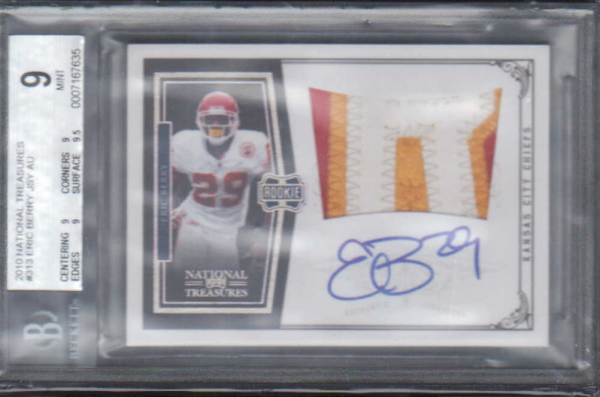 2010 Playoff National Treasures #313 Eric Berry JSY AU RC