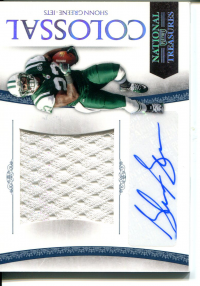 2010 Playoff National Treasures Colossal Materials Signature #54 Shonn Greene/10 front image
