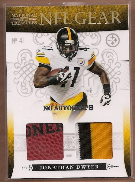 2010 Playoff National Treasures NFL Gear Signatures Prime #17 Jonathan Dwyer