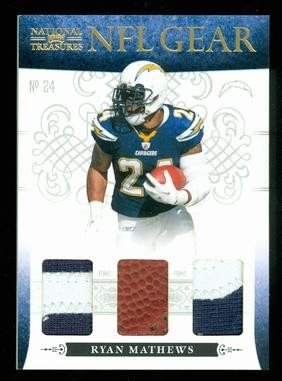 2010 Playoff National Treasures NFL Gear Triple Prime #13 Ryan Mathews