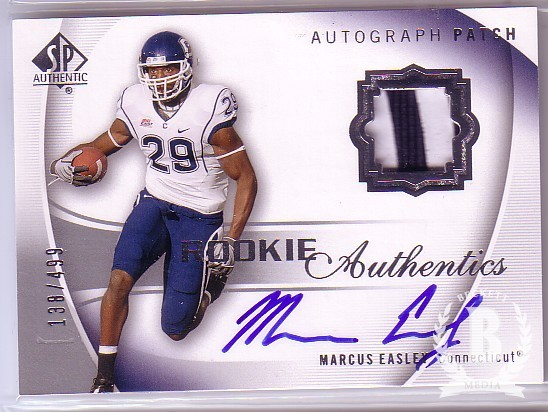 2010 SP Authentic #133 Marcus Easley JSY AU/499 RC