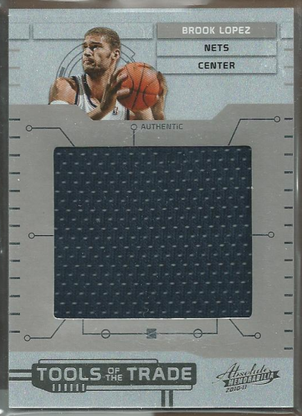 2010-11 Absolute Memorabilia Tools of the Trade Materials Jumbo #12 Brook Lopez/99