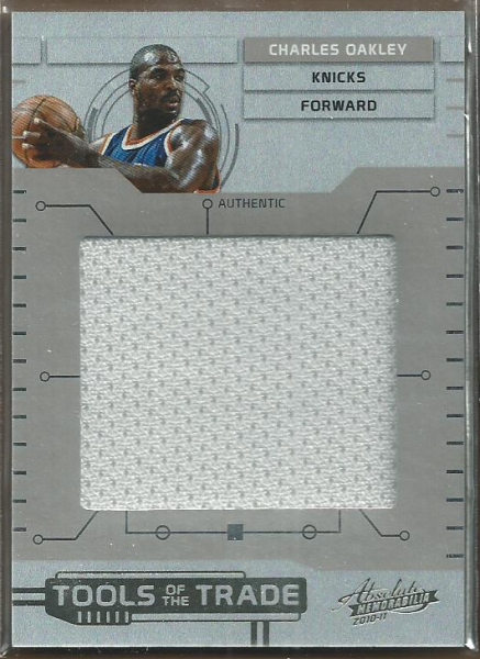 2010-11 Absolute Memorabilia Tools of the Trade Materials Jumbo #29 Charles Oakley/99