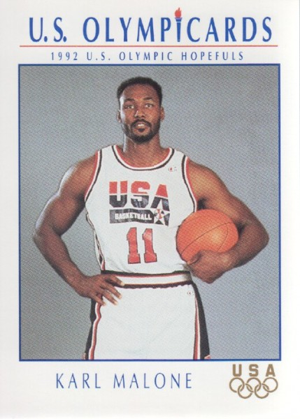 1992 Impel U.S. Olympic Hopefuls #13 Karl Malone BK