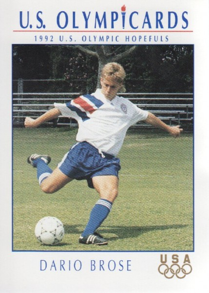 1992 Impel U.S. Olympic Hopefuls #65 Dario Brose/Soccer
