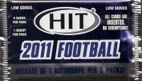 2011 SAGE HIT Football Hobby Pack Low Series