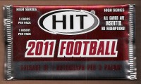 2011 SAGE HIT Football Hobby Pack High Series