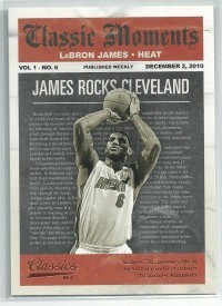 2010-11 Classics Classic Moments #4 LeBron James