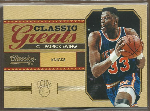 2010-11 Classics Classic Greats Gold #4 Patrick Ewing