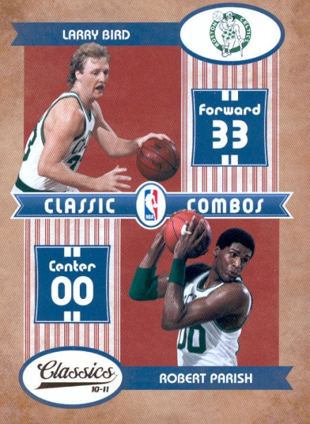 2010-11 Classics Classic Combos #1 Larry Bird/Robert Parish
