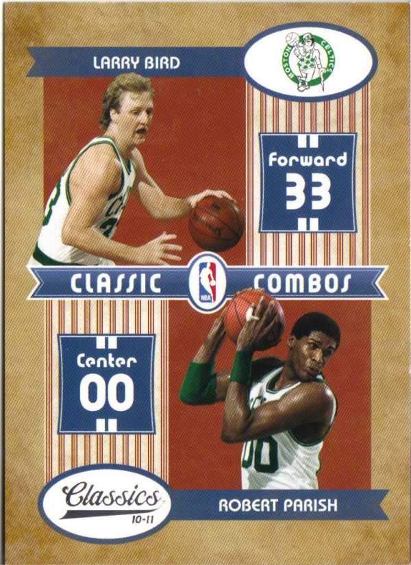 2010-11 Classics Classic Combos Silver #1 Larry Bird/Robert Parish