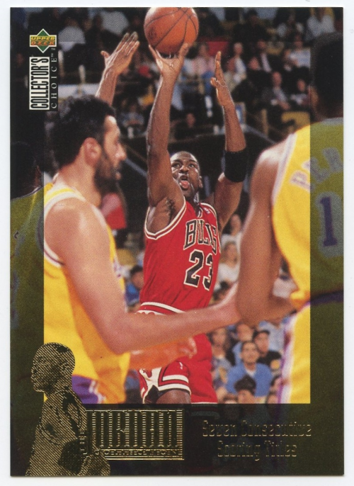 1995-96 Collector's Choice International Japanese Jordan Collection #JC1 Michael Jordan/7 Titles