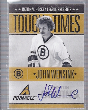 2010-11 Pinnacle Tough Times Autographs #JW John Wensink