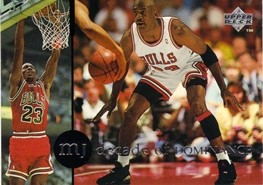 1994-95 Collector's Choice International Spanish Decade of Dominance #J6 Michael Jordan/'88 NBA Defensive POY